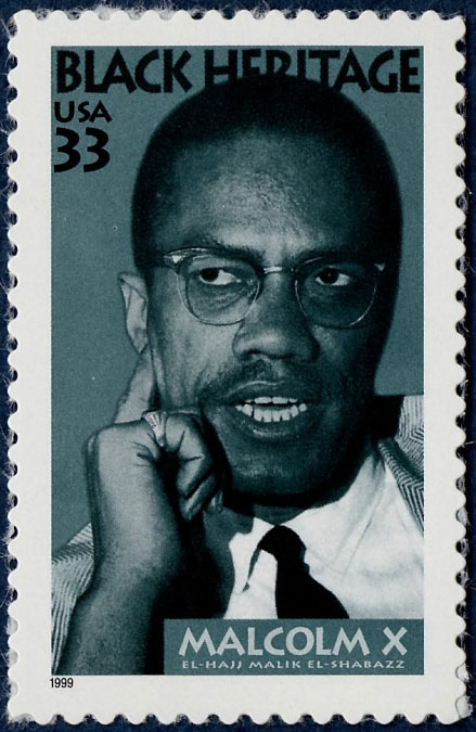 33-cent Malcolm X stamp