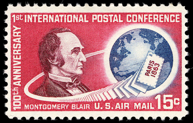 15-cent Montgomery Blair Issue stamp