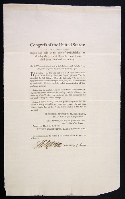 Post Office Act of 1791