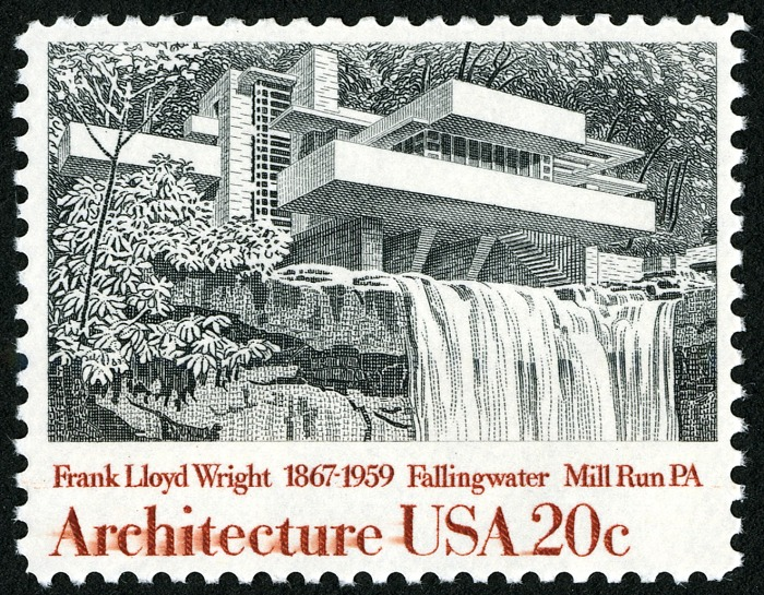 20-cent Fallingwater stamp