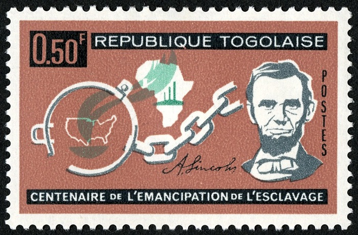 .5-franc CFA Centenary of the Emancipation Proclamation stamp, Togo