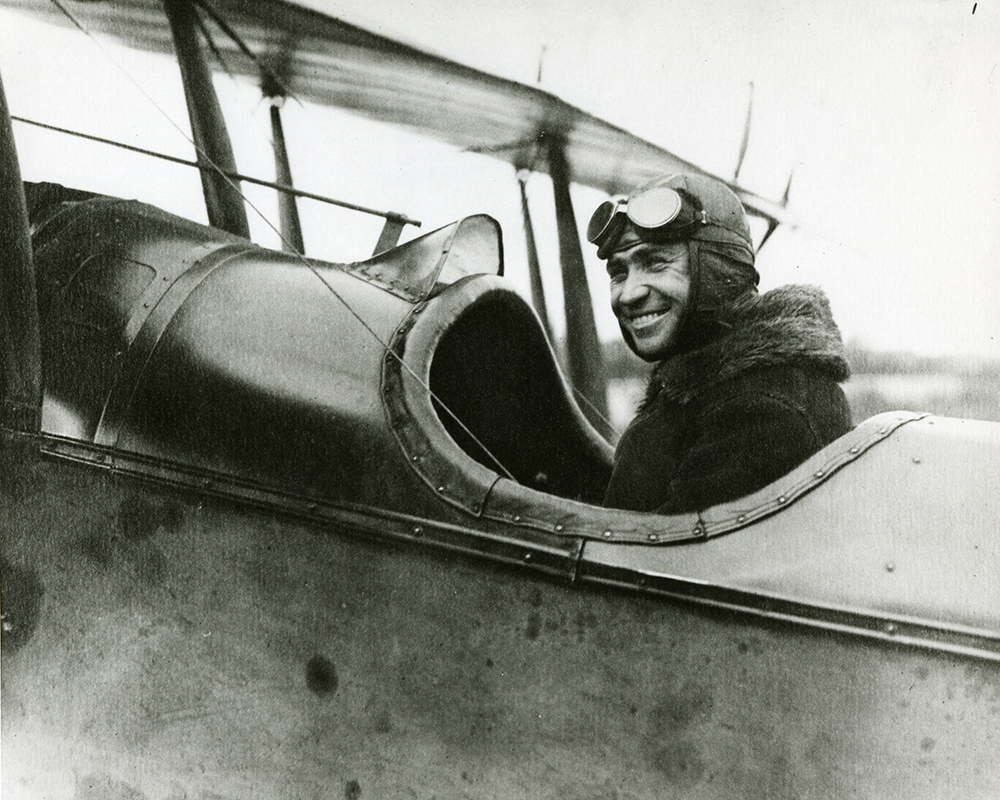 Photograph of airmail pilot Robert Shank