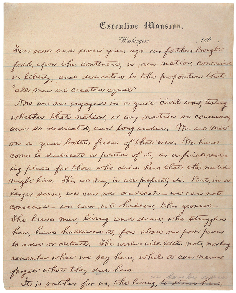 Draft of the Gettysburg Address