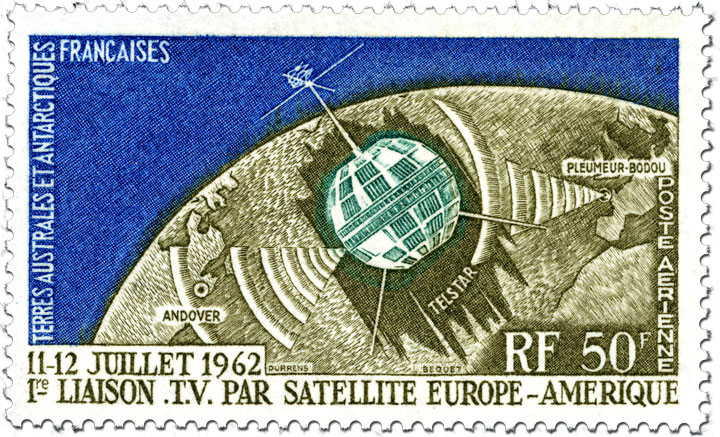 French Antarctic Territory Telstar 1 stamp