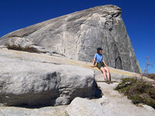 Beth hiking Half Dome in Yosemite National Park