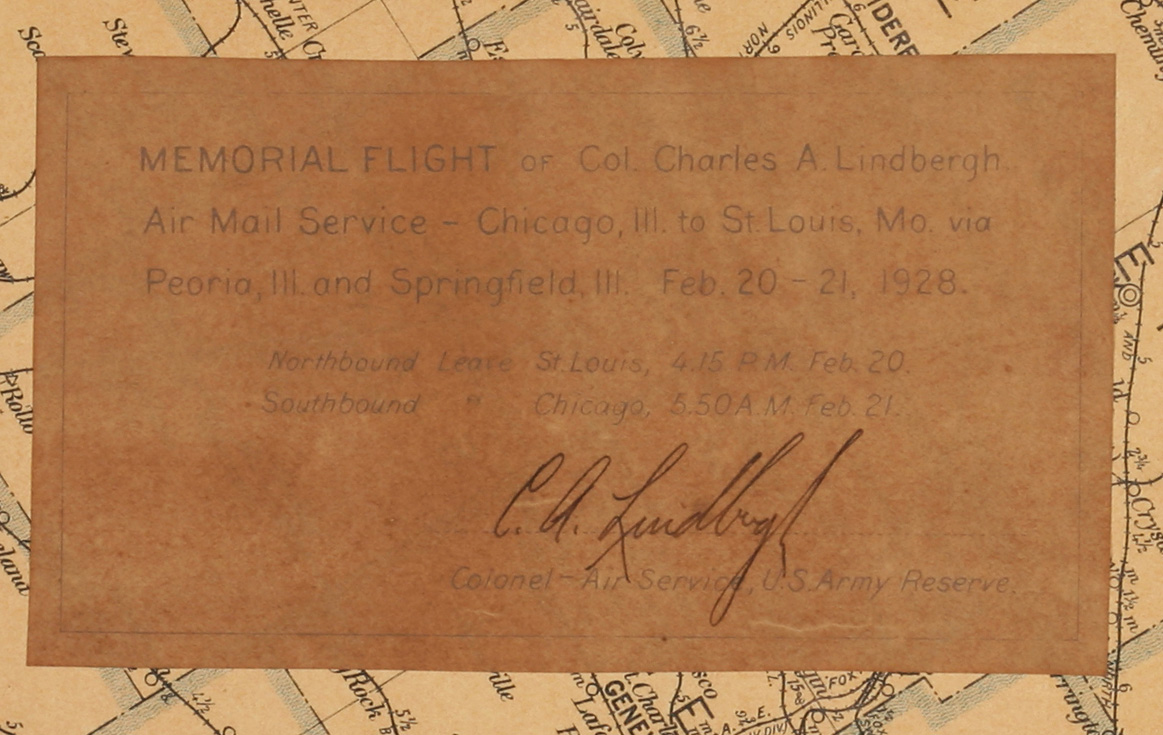 Lindbergh's signature on the map