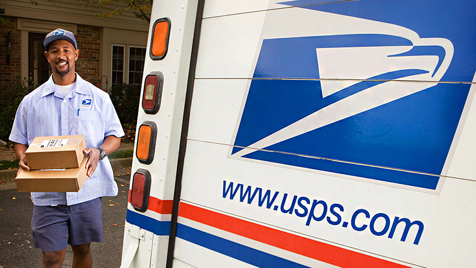 Mail carrier and truck