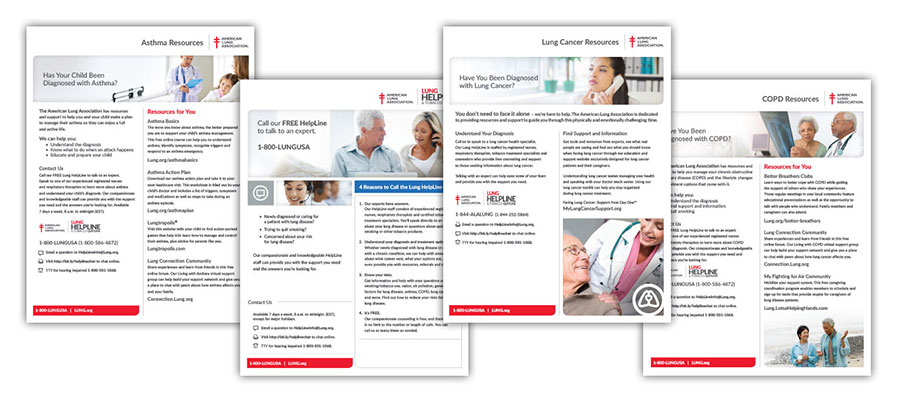 Collage of health education materials