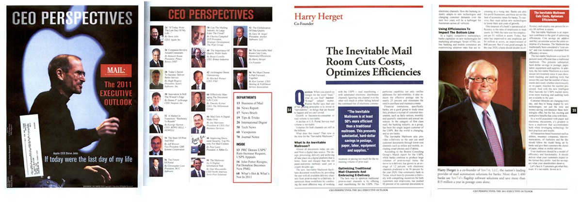 CEO Perspectives magazine cover and pages