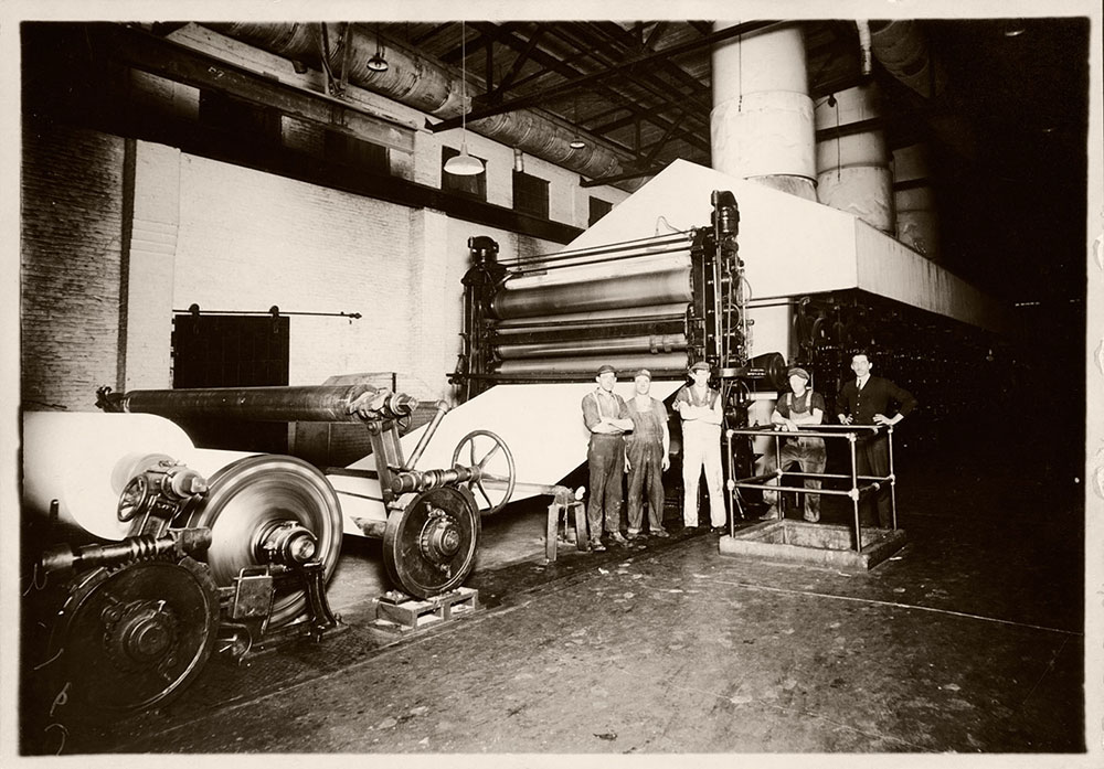 Machine and Workers at Kingsport Mill