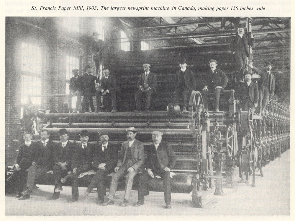 Mill Workers at St. Francis Paper Mill in 1903