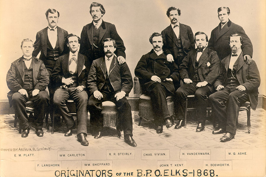 Ten of the fifteen originators of the BPO Elks, circa 1868