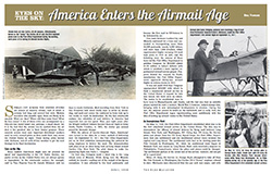 First page of PDF, Eyes on the Sky: America Enters the Airmail Age