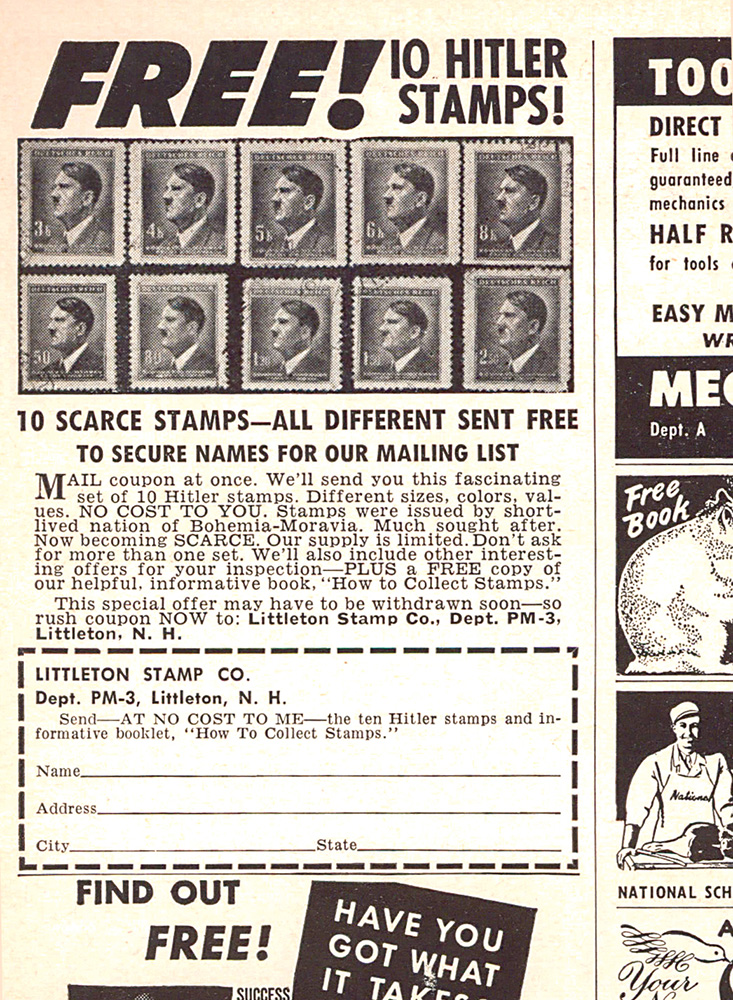 Littleton Stamp Company ad