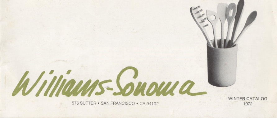 Williams-Sonoma 1972 catalog cover