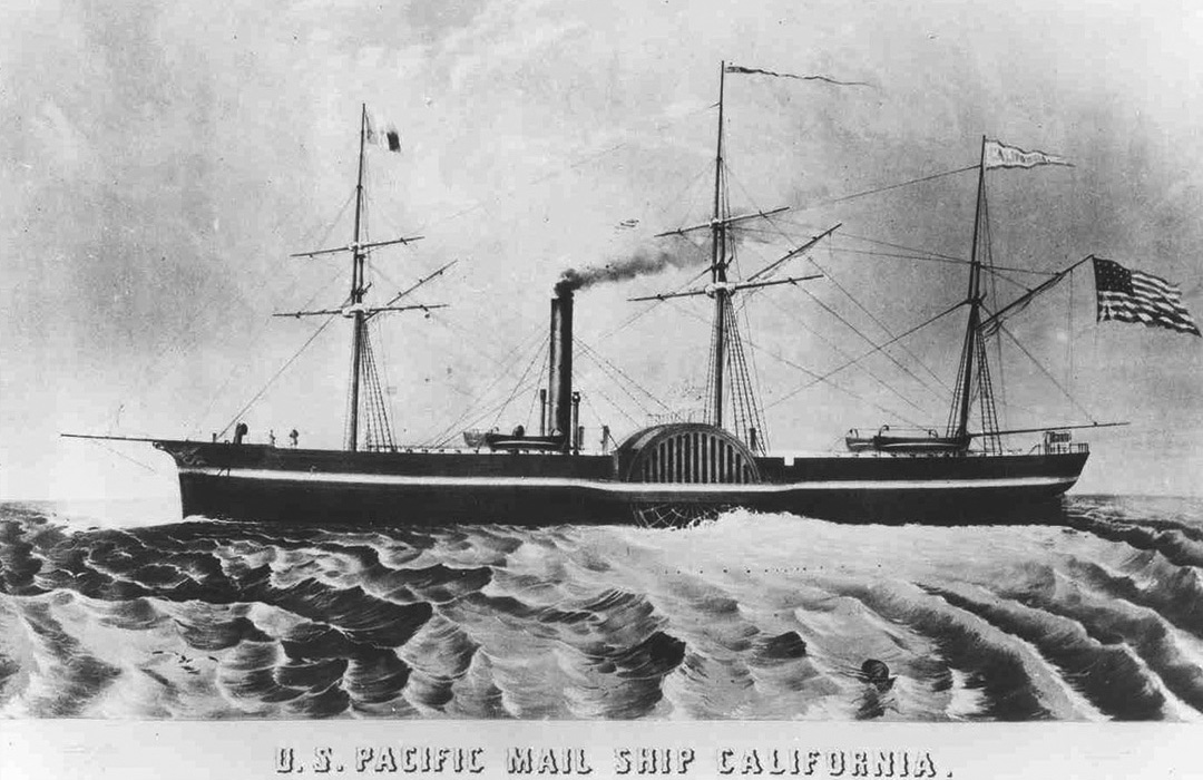 sketch of the California steamship