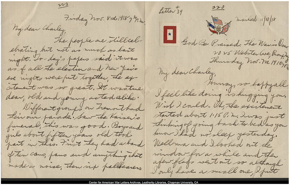 two-page handwritten letter