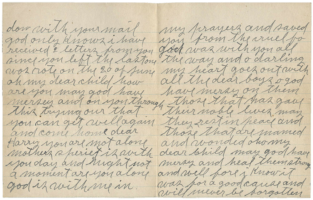 two pages of a handwritten letter
