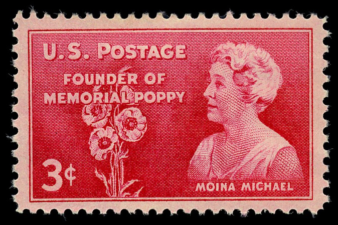 3-cent Moina Michael stamp