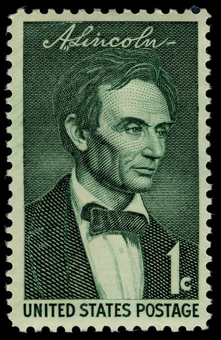 1-cent Abraham Lincoln stamp