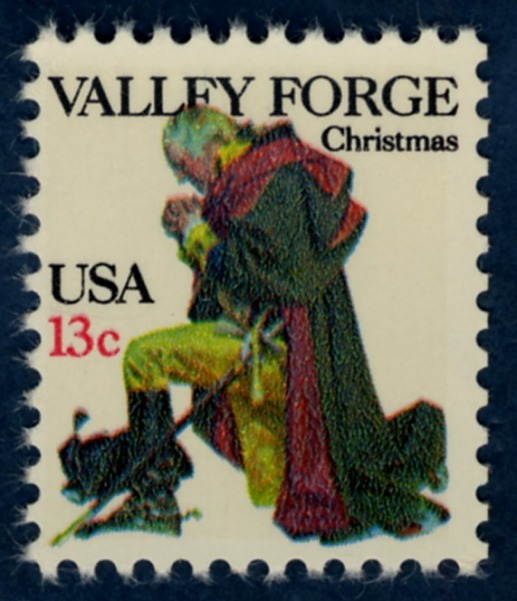 13-cent Valley Forge stamp