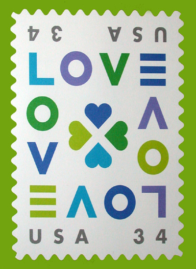 A 2002 Love stamp variation