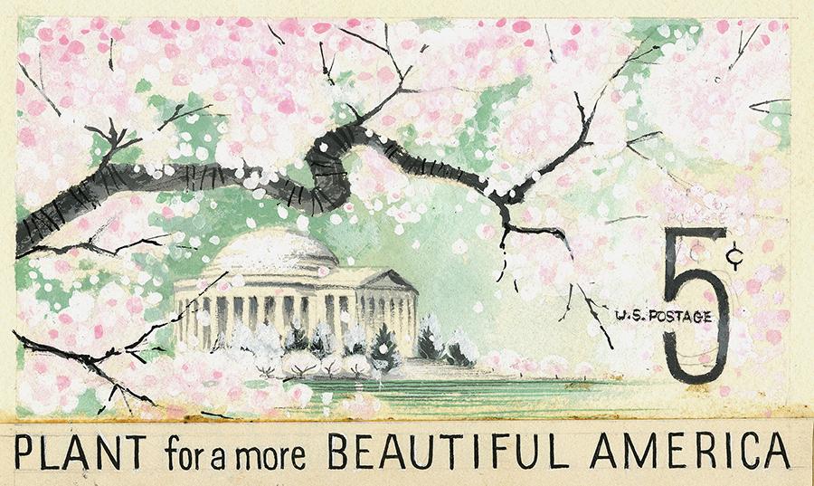 La Primavera, en los sellos de Estados Unidos: Embelleciendo América