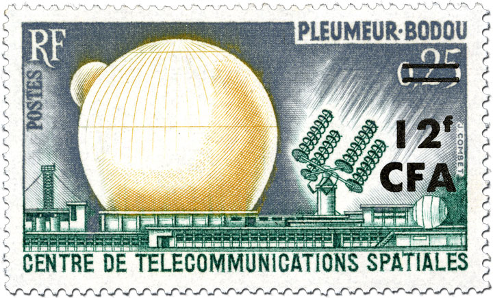 Centre de Telecommunications Spatiales French stamp