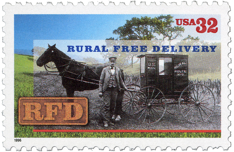 Rural Free Delivery postage stamp