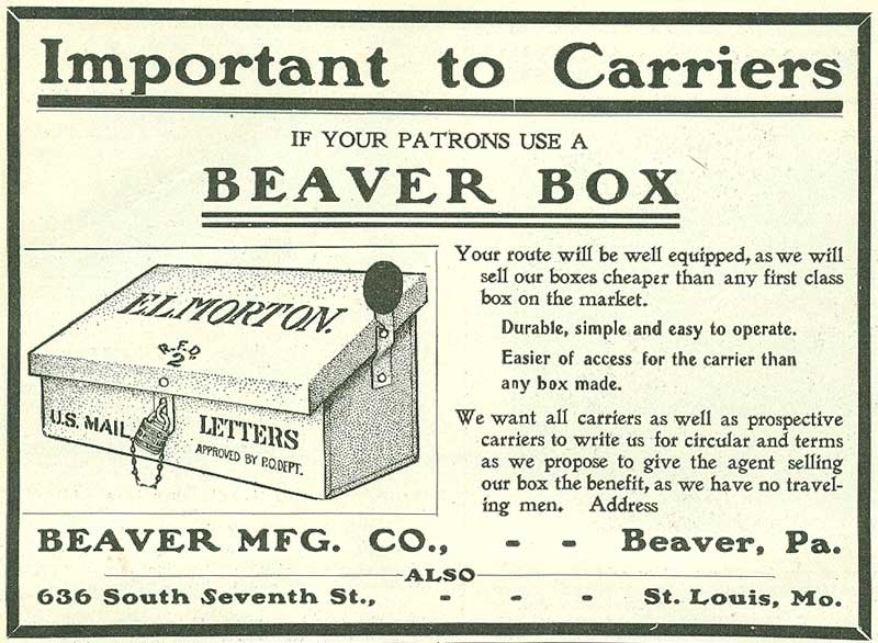 Beaver Manufacturing Company advertisement