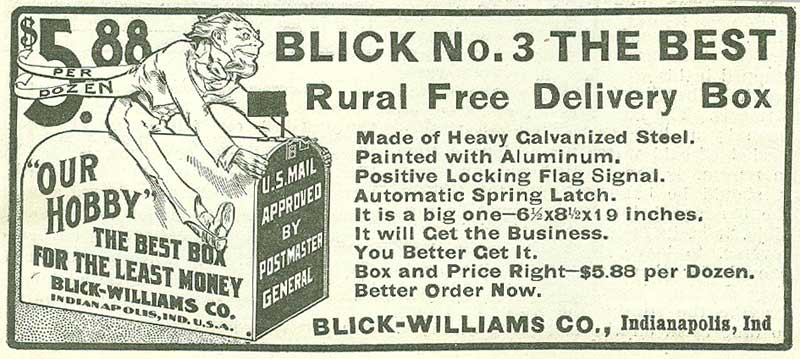 Blick-Williams Company advertisement