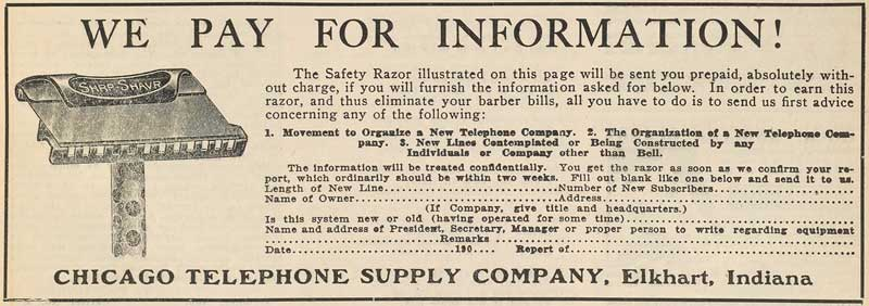 Chicago Telephone Supply Company ad
