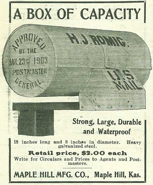 Maple Hill Manufacturing Company advertisement