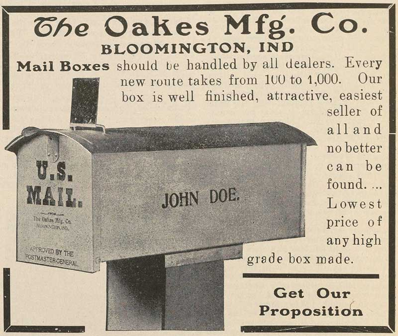 Oakes Manufacturing Company advertisement