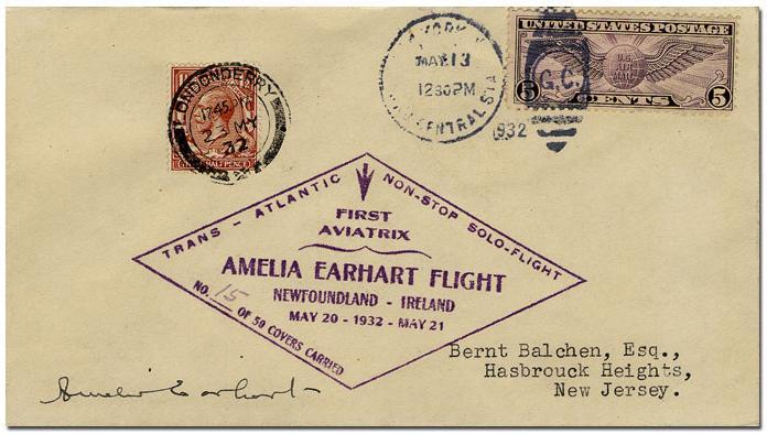 Amelia Earhart Solo Transatlantic Mail   National Postal Museum