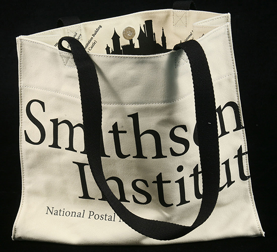 Tote bag with Smithsonian Institution logo