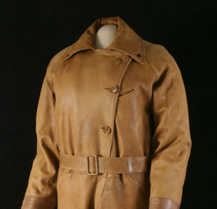 Amelia Earhart's leather flight suit on a mannequin