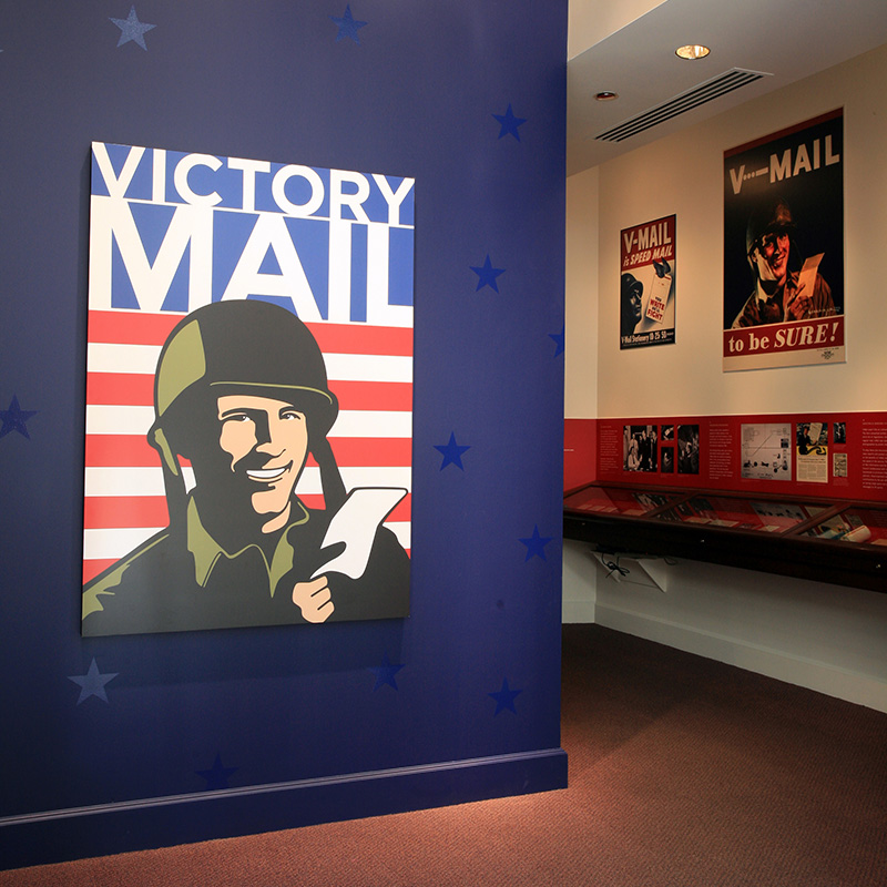 Victory Mail exhibition entrance